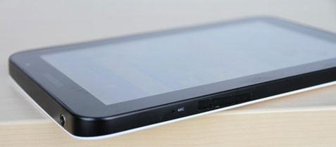 Samsung Galaxy Tab ด้านมุมซ้ายบน