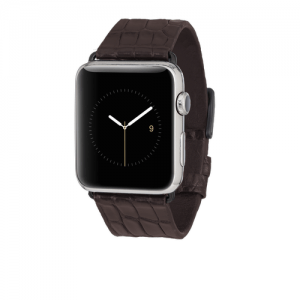BROWN ALLIGATOR BAND FOR APPLE WATCH 42MM