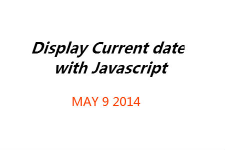 Current Date via Javascript