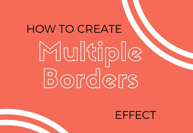 How to create multiple borders effect using css outline and box shadow