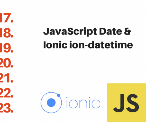 Javascript date and ionic ion-datetime