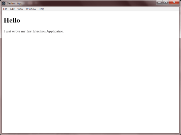 This is the output with Graphical User interface of our first desktop application using Electron Technbuzz