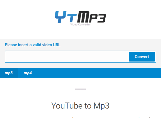 Convert or download youtube videos in mp3 on Tymp3.cc/