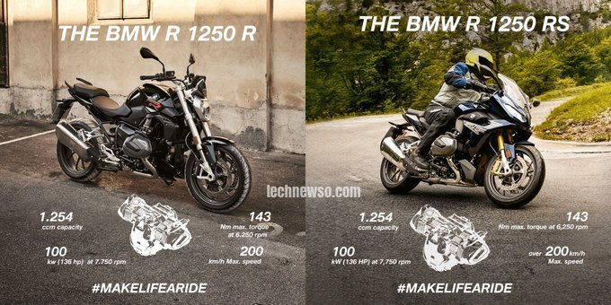2020 BMW R 1250 R VS BMW R 1250 RS FEATURES 2