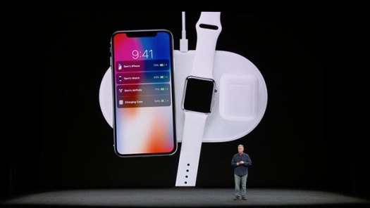 Airpower wireless charging mat with Phil Schiller on stage