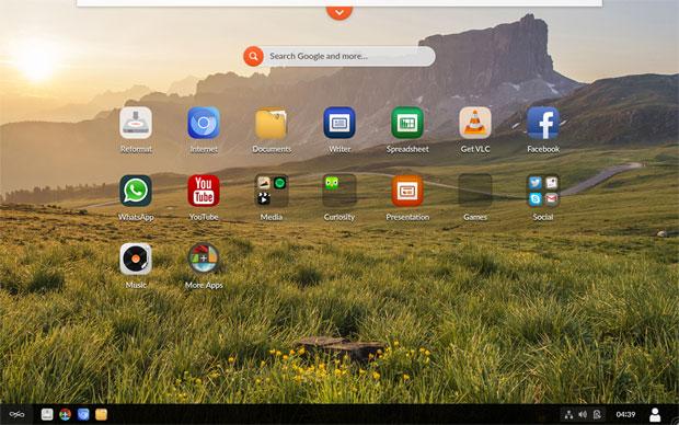 Endless OS desktop design