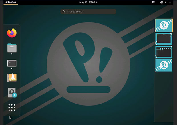 POP!_OS 20.04 workspace navigation