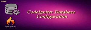 CodeIgniter Database Configuration