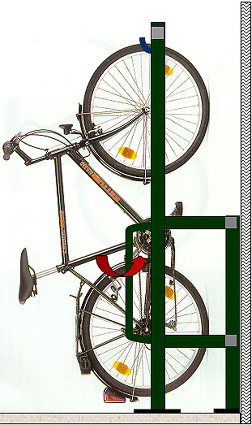 support velo mural vertical 6 a 10