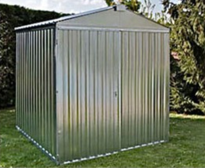 abri jardin metal brut acier galvanise