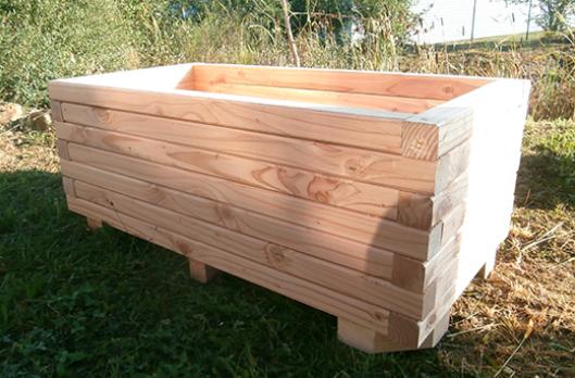 jardiniere rectangulaire en bois