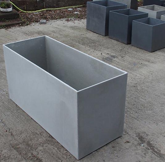 jardiniere rectangulaire en beton fibre