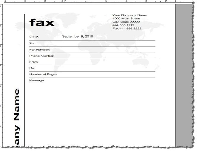 Fax Cover Sheet Thumbnail