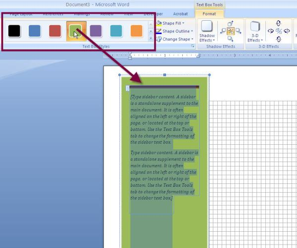 How to Add a Stylish SIDEBAR Text Box to a MS Word 2007 or ...