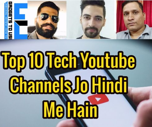 Top 10 Tech Youtube Channels Jo Hindi Me Hain