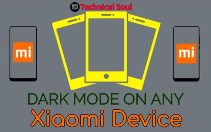 dark mode on any xiaomi device