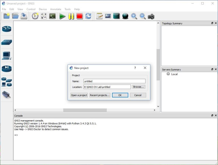 Install GNS3 Network Simulator - Technig
