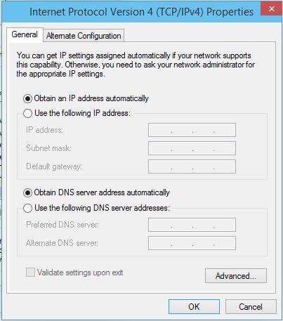 Internet Protocol version 4 (TCP-IP) Properties