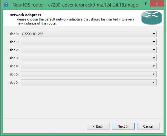 Gns3 default slots