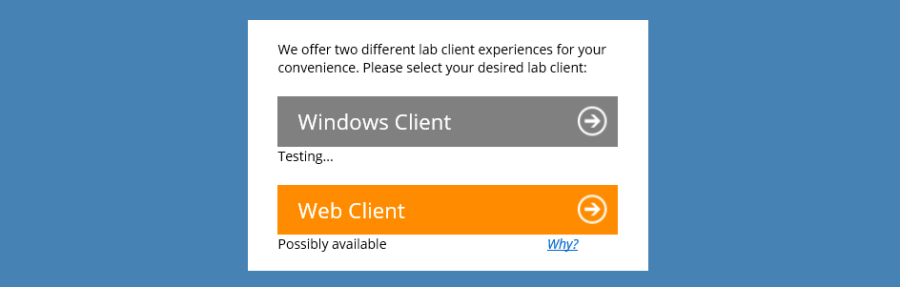 Windows Client or Web Client