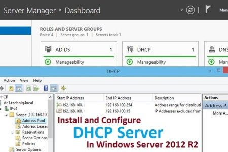 Install and Configure DHCP Server on Windows Server 2012 R2
