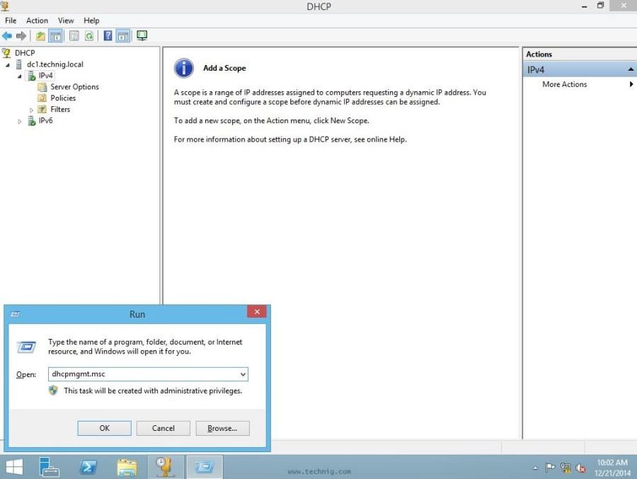 DCHP Management Console