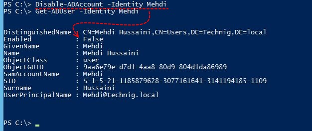 Disable User Account with PowerShell