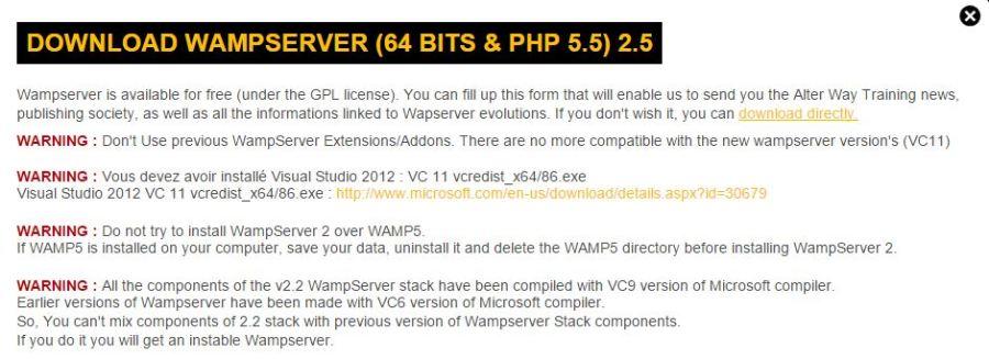 Download WAMP Server 64 bits