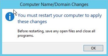 Server need Restart