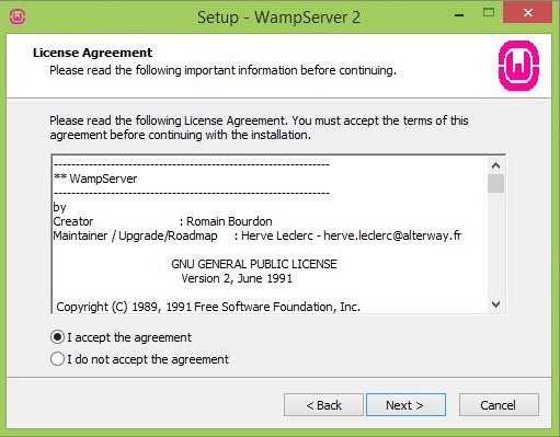 Web Server License Agreement