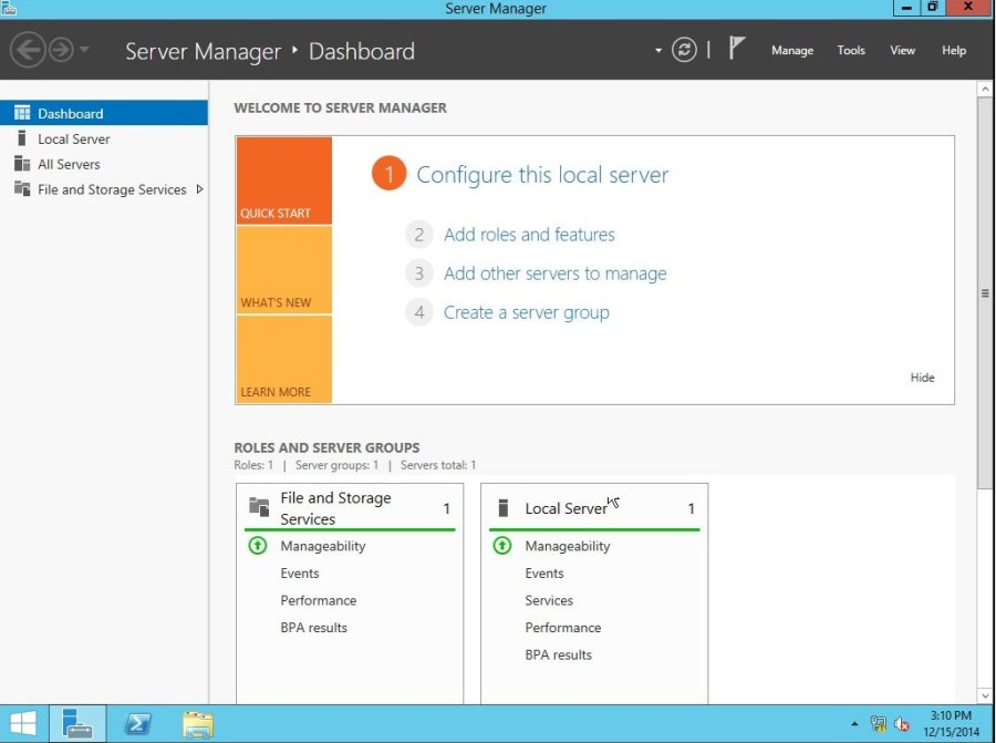 Windows Server 2012 R2 Metro