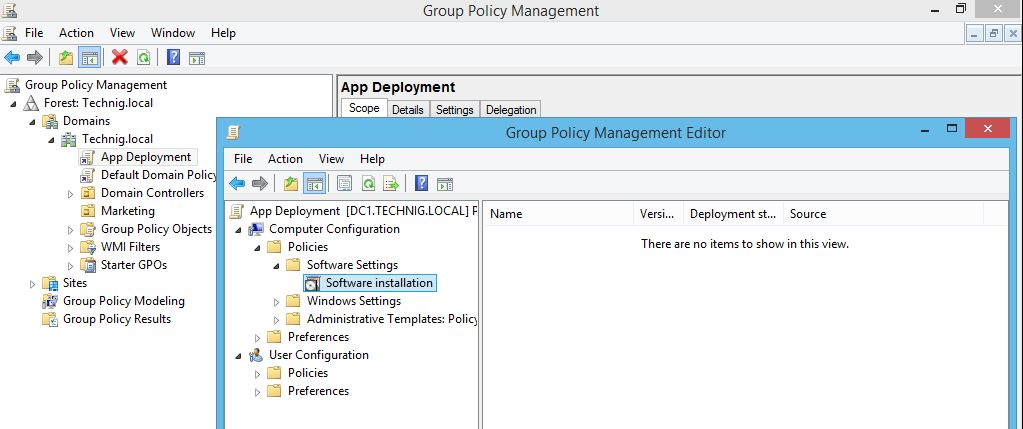Link a GPO to domain for Deploying Software using Group Policy - Technig