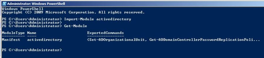 Import Active Directory Moduls in Windows PowerShell