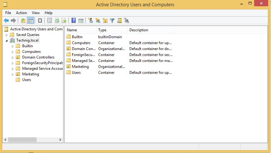 Active Directory Users and Computers on Windows 8 1