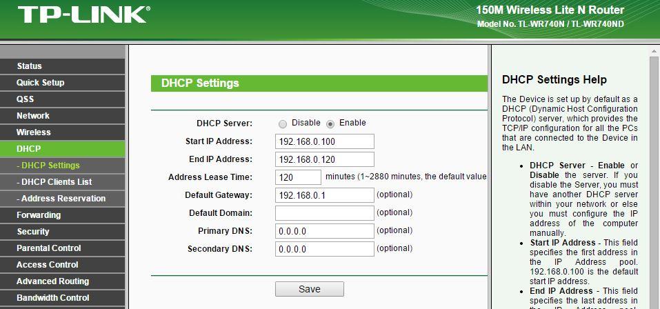 Basic DHCP Settings - Technig.com