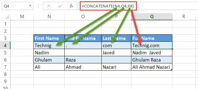 Concatenate Function