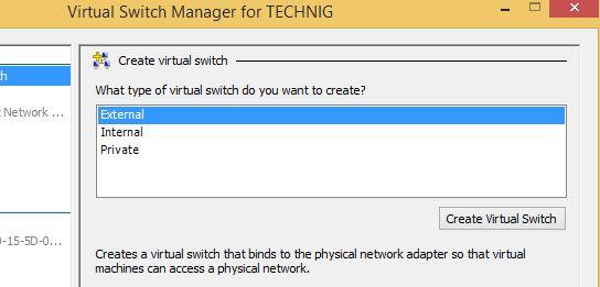 Hyper-v External Virtual Switch