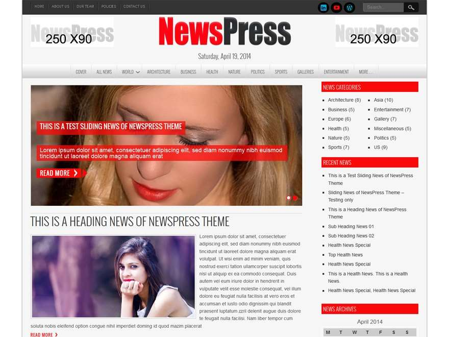 NewsPress Lite Free WordPress Theme