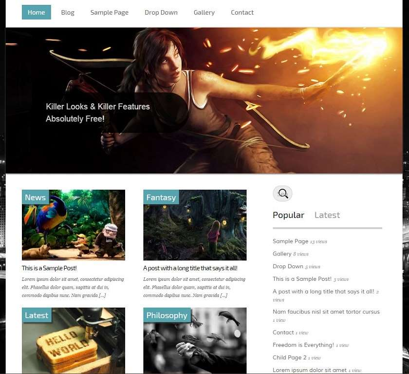 avante Free WordPress Theme
