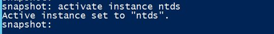 Activate Instance NTDS
