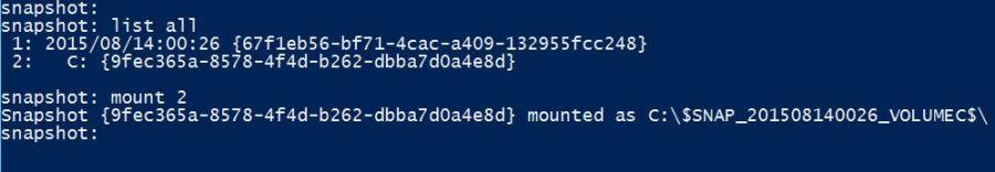 Mount Active Directory Snapshots