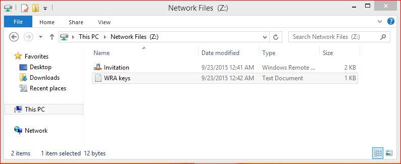 Network Shared Folder