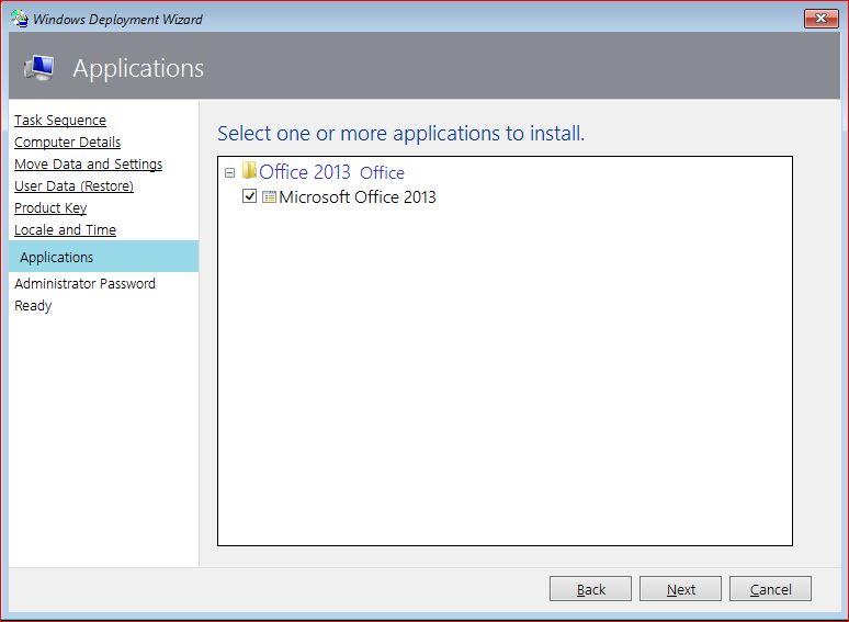 Application Deployment using MDT