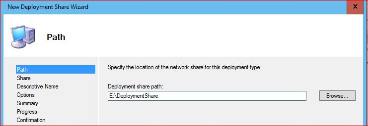 Deployment Share Path