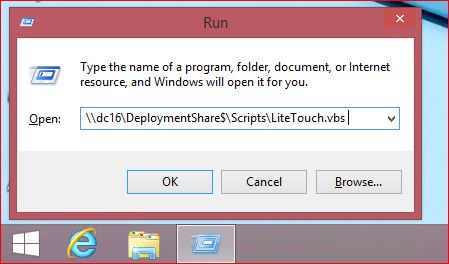 Run Lite Touch Script