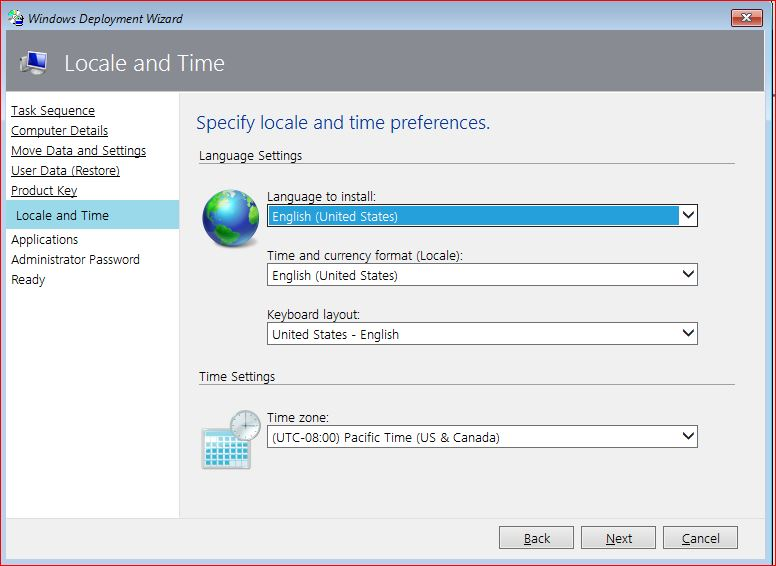 Windows 10 Local and Time