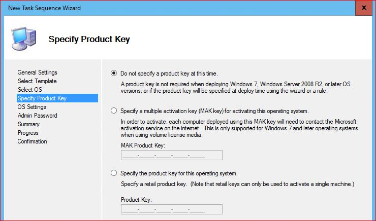 How do upgrade to windows 10 using mdt technig for Window 10 product key