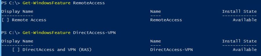 Install Remote Access with PowerShell