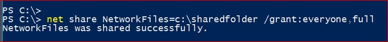 Share Files Using Command using PowerShell