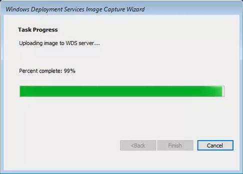 Uploading Image to WDS Server